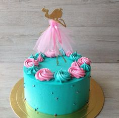 Party Desserts, Party Cakes, Dance Birthday Cake, Dancer Cake, Modern Cakes, Balerina, Colorful Cakes, Drip Cakes, Buttercream Cake