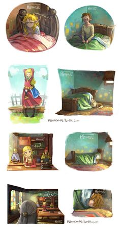 Wake up time, Zelda and Link, The Legend of Zelda: Skyward Sword artwork by AldeRion-Al.