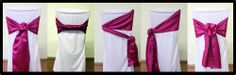 different ways to tie a chair sash