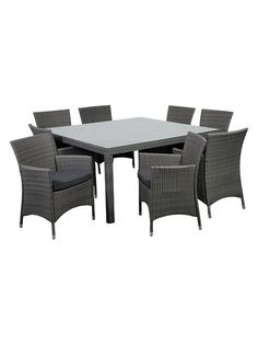 Atlantic Grand New Liberty Deluxe Square Patio Dining Set with Cushions (5 PC) by International Home at Gilt