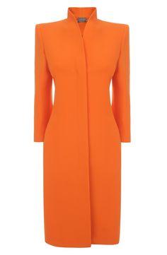 Alexander McQueen Orange Slim Fit Dress-Coat