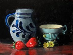 Grandma's teacup - oil on masonite - 24 x 18 cm