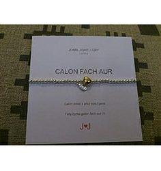 Cymraeg Welsh A Heart of Gold Bracelet 3WQvQrn8a