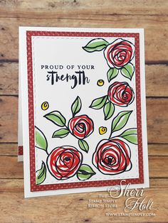 My Sheri CARDS: The Stamp Simply Ribbon Store - Altenew Bamboo Rose stamps