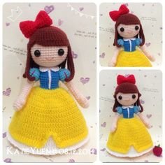 苹果肌❤白雪公主 Snow white  #amigurumi #adorable #addicted #crochet #craft #diy #doll…