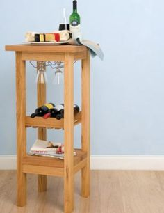 How to Build a Table with Wine Rack
