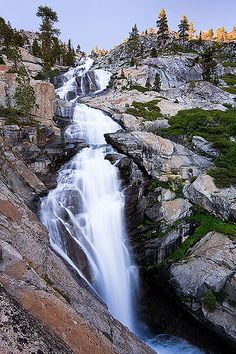 Horsetail Falls in the Desolation Wilderness, California - photo by Bryan Swan, via Flickr