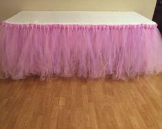 Tutu Table Skirt by PrettyLookingEvent on Etsy
