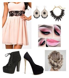 """8th Grade Formal 4"" by jennabreske ❤ liked on Polyvore featuring Giuseppe Zanotti, Breckelle's and Oscar de la Renta"
