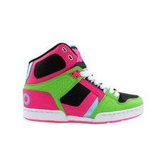 Green and pink Osiris shoes, heck yeah! have these:)