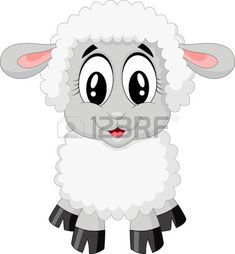 Dibujos animados lindo de las ovejas