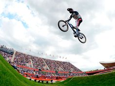 Alise Post of USA competes during the Women's BMX Cycling on Day 12 of the London 2012 Olympic Games at BMX Track on August 8, 2012 in London, England.  2012 Getty Images    #olympics, #bmx, #london2012