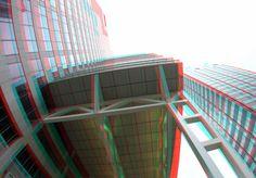 https://flic.kr/p/ZV95Sb | Blaak-555 Rotterdam 3D | anaglyph stereo red/cyan