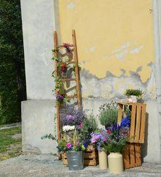 decorazione esterno country wedding