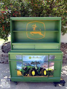John Deere Green Dresser Makeover!