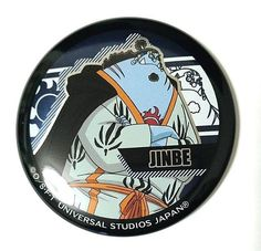 One Piece Can Badge Jinbe Pirates USJ Premium Summer 2017 Limited Anime F/S #USJ
