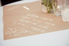 paper tablecloth with chalk