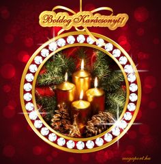 Boldog Karácsonyt! (animált gif képeslap) - Megaport Media Christmas Images, Christmas And New Year, Christmas Cards, Merry Christmas, Christmas Decorations, Xmas, Christmas Ornaments, Holiday Decor, Share Pictures