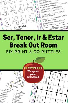 Tener Ser Ir Estar Break Out Escape Room First Verb Distance Learning Spanish Teaching Resources, Spanish Activities, Spanish Language Learning, School Resources, Spanish Basics, Spanish Lessons, Spanish 1, Learn Spanish, Spanish Grammar
