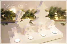 erhältlich hier: https://www.facebook.com/SilvisHandarbeiten Adventslicht, Adventskranz, Holz, Handarbeit, Advent, Weihnachten, Silvi K.