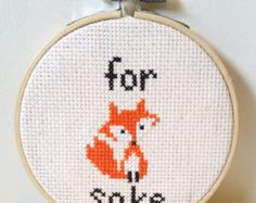 15 Cross Stitch Gift Ideas - for fucks sake for fox sake foxy lady cross stitch embroidery funny gift idea christmas pattern - Cross Stitching, Cross Stitch Embroidery, Embroidery Patterns, Hand Embroidery, Funny Embroidery, Simple Embroidery, Embroidery Boutique, Flower Embroidery, Do It Yourself Inspiration