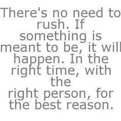 AMEN!!! Rushing into a relationship with someone just means they are a rebound...yes, it may last for a little bit but it wont work...you cant have a relationship that started out with lies and cheating and it last like you think.