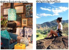 { Instadecor } Studio Bergamin: objetos em azul . Camila Coelho
