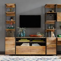 Build Your Own - Industrial Modular Storage, Entertainment Center | West Elm Metal Furniture, Home Office Furniture, Diy Furniture, Furniture Design, Furniture Movers, Furniture Stores, Elm West, Living Room Decor, Living Spaces