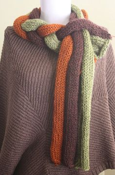 Knitting Pattern PDF: Twisted Roots Scarf by