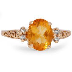 THE AMMIEL RING - 14K yellow gold, Citrine & diamonds $1,450