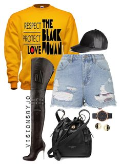 """Untitled #1594"" by visionsbyjo on Polyvore featuring Topshop, Christian Louboutin, Aspinal of London, H&M, Marc Jacobs and Chanel"