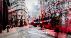 YellowKorner recommends a Photograph by LAURENT DEQUICK entitled Red Traffic. Discover our Photograph in various dimensions with a selection of finishes, on the YellowKorner website Multiple Exposure Photography, Street Art, Street View, Photo D Art, Street Photographers, Urban Landscape, Double Exposure, Art And Architecture, Art Photography