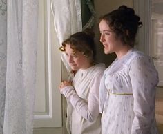 Lucy Davis and Jennifer Ehle in Pride and Prejudice - 1995