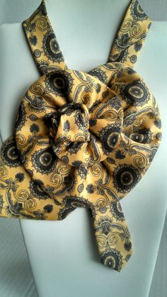 Sunny yellow to brighten you day. Dress it up with the trendy collar created from a tie. The perfect accessory for any outfit. by BeansOneOfAKind on Etsy
