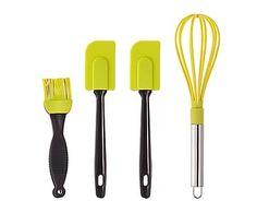 Set de 4 utensilios para repostería en de silicona - pistacho