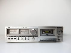 Now a network music streamer [orig. JVC tape deck 2 x 35 W amplifier and endless streaming possibilities. Start up an app and start streaming . Class D Amplifier, Audiophile, Gray Background, Timeless Design, Deck, A5, Retro, Music, Vintage