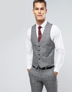 Get this RUDIE's vest now! Click for more details. Worldwide shipping. Rudie Slim Fit Waistcoat in Prince Of Wales Check - Black: Waistcoat by Rudie, Soft-touch woven fabric, Button placket, Contrast back with an adjustable cinch, Slim fit - cut close to the body, Dry clean, 69% Polyester, 31% Viscose, Our model wears 40�/102cm and is 193cm/6'4 tall. (chaleco, vest, waistcoat, waist coat, sleeveless jacket, gilet, vests, chaleco, weste, chaleco, gilet, gilet)