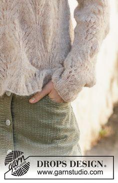 Footprints in the Sand / DROPS - Patrones de punto gratuitos por DROPS Design Sweater Knitting Patterns, Lace Knitting, Knitting Stitches, Knitting Designs, Drops Design, Footprints In The Sand, Drops Patterns, Summer Knitting, How To Start Knitting