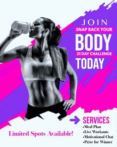 Are youbready to get in the best shape possible & just snap back?! Fill out my FREE WELLNESS EVALUATION form & I will reach out to you!!! 💪🏼😄 Fitness Design, Gym Design, Flyer Design, Fitness Flyer, Fitness Tips, Herbalife, Gym Advertising, 4life Transfer Factor, 60 Day Challenge