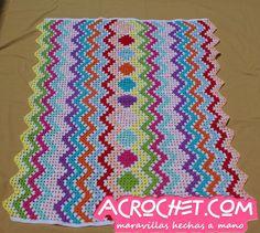 Multicolor Zig Zag Granny Blanket