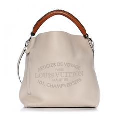 LOUIS VUITTON Veau Soie Calfskin Parnassea Bagatelle Hobo Blanc Casse ❤ liked on Polyvore featuring bags, handbags, shoulder bags, woven tote, louis vuitton purse, handbags totes, hobo tote and louis vuitton tote bag
