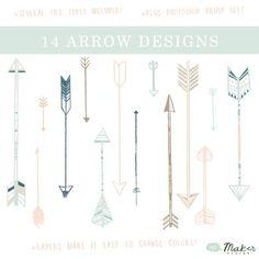 Arrow Clip Art - Digital Graphic Set -Photo Overlays   Tattoo Ideas!