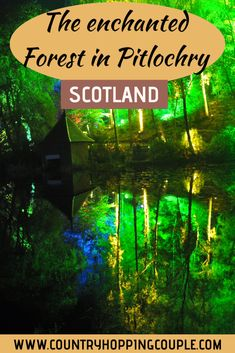 The Enchanted Forest in Pitlochry - a stunning light and show in the heart of Scotland - Country Hopping Couple