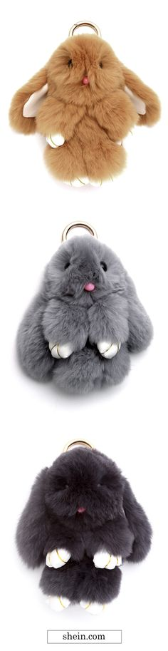 Cute flutty bunny keychains from SHEIN. More cute things here.