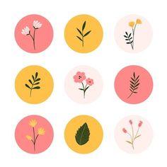 Instagram Gradient, Pink Instagram, Story Instagram, Free Instagram, Printable Stickers, Cute Stickers, Tableau Pop Art, Cd Art, Web Design