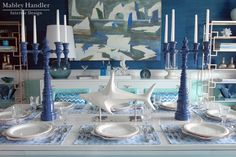 Mabley Handler Interior Design - Beach House Dining Room at the 2012 Hampton Designer Showhouse,