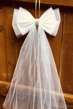 FOR PEWS TULLE FREE CLIPS IVORY WEDDING BOWS SET OF 40 RUSH ORDERS AVAILABLE
