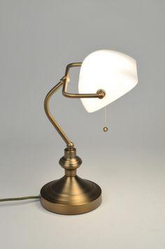 Tafellamp 71026: Klassiek, Brons, Glas, Wit Opaalglas Spot Lumiere, Desk Lamp, Table Lamp, Lighting, Home Decor, Bronze, Decoration, Modern Lamps, Bedroom Table Lamps