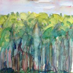 Other landscapes: Colin Pollock Watercolor Trees, Contemporary Landscape, Landscapes, Pastel, Painting, Art, Paisajes, Art Background, Scenery