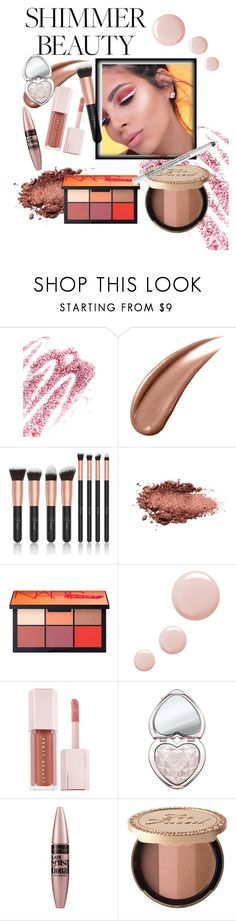 """Shimmer beauty"" by mirjamke ❤ liked on Polyvore featuring beauty, Obsessive Compulsive Cosmetics, Topshop, Puma, Too Faced Cosmetics, Maybelline and NYX"